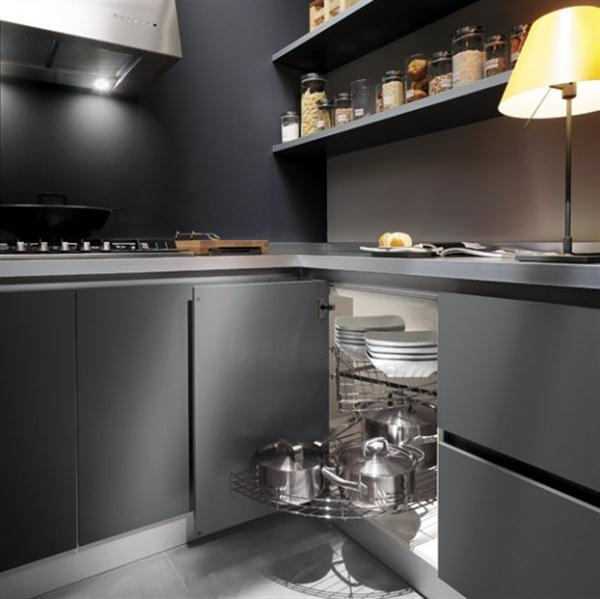 Kitchen Decor Idea: Grey Kitchen Cabinets Design