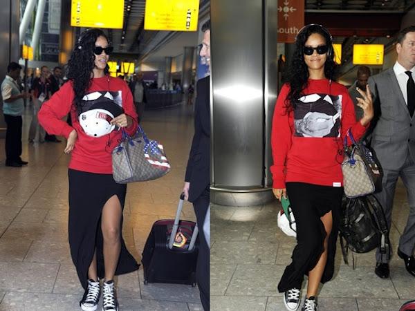 Rihanna'nın Maxi Etek Kombini