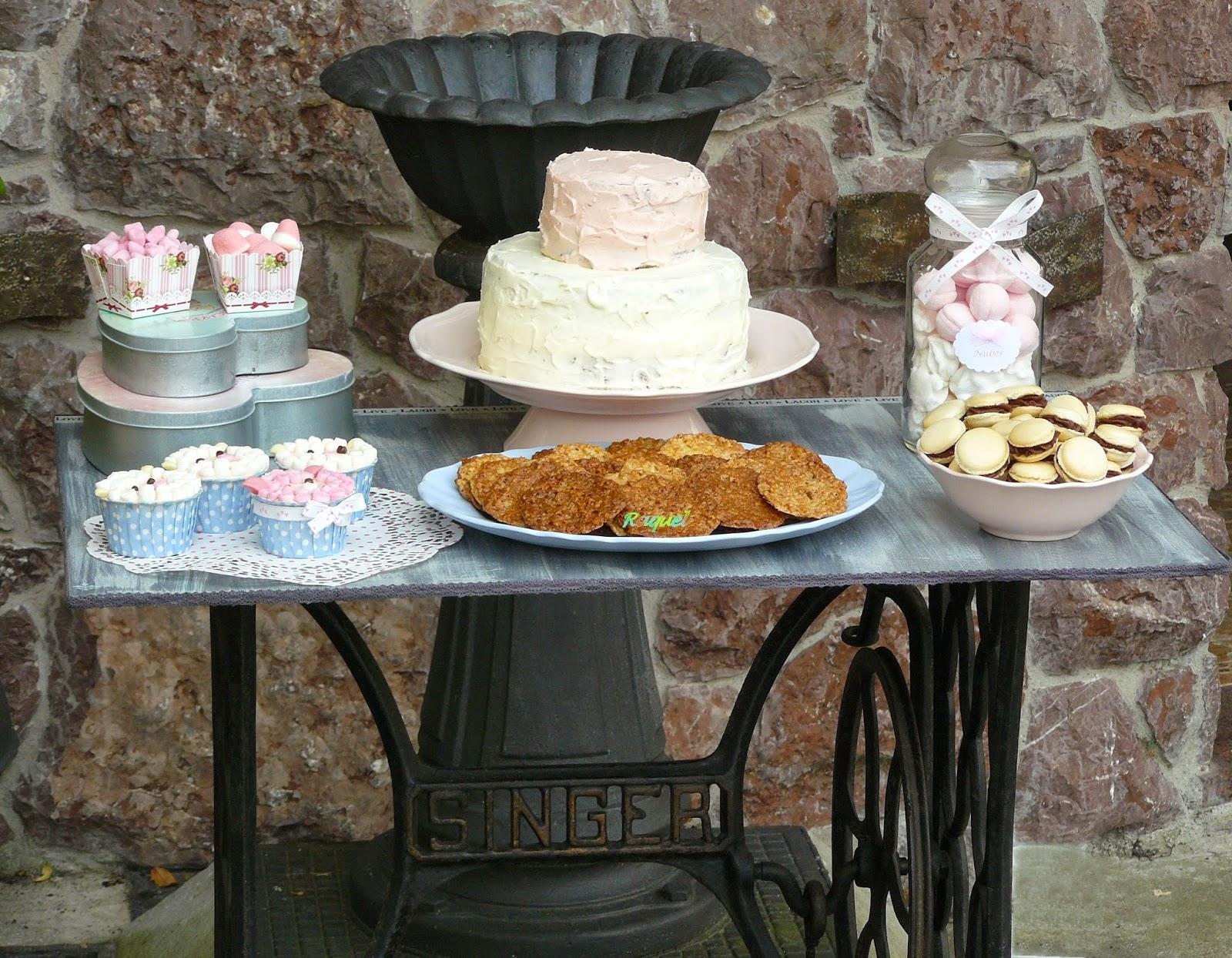 Cocina chocolate y t mesa dulce estilo vintage y - Mesas cocina vintage ...