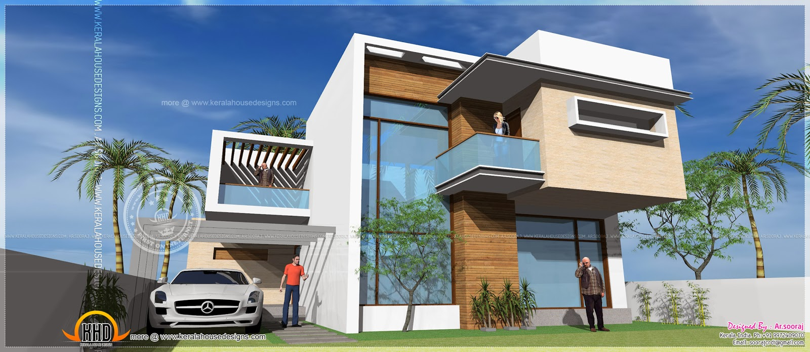 Kerala home design and floor plans contemporary residence for Modern residences