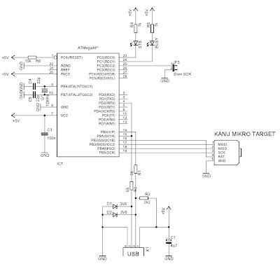 skema downloader untuk ATmega dan MCS
