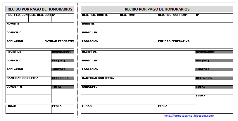 Descargar excel recibos for Formato nomina excel