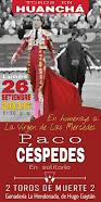 Paco Cespedes, anunciado en solitario en Huancha, el 26/09.