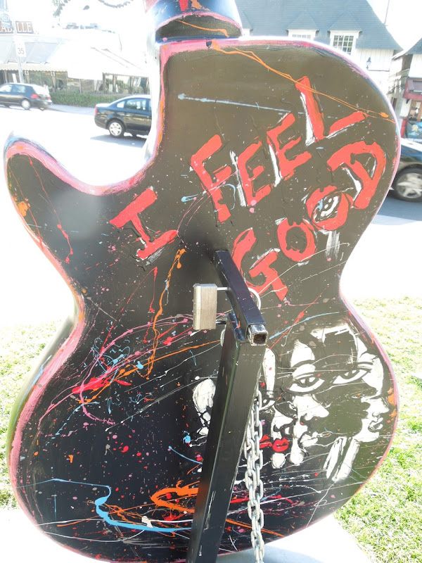 I Feel Good guitar sculpture back