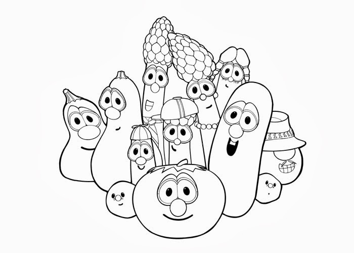 veggies tales coloring pages - photo#14