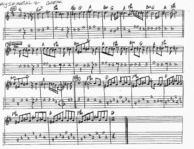Attractive My Immortal Evanescence Piano Chords Vignette - Guitar ...