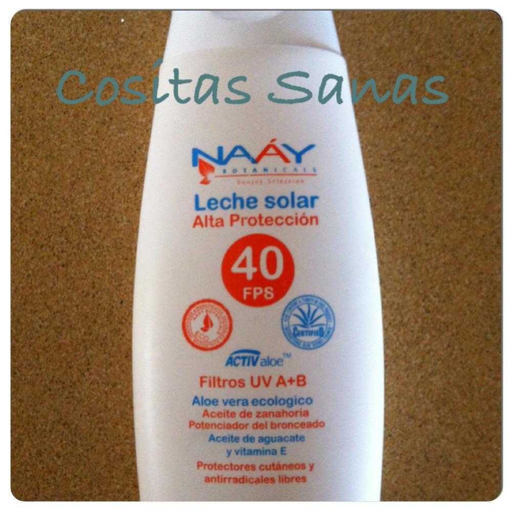 Crema solar natural naay botanicals