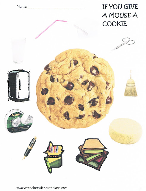 Picture of a cookie with items around it.