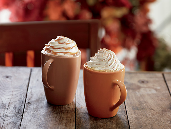 Image result for pumpkin spice latte and salted caramel mocha