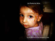Baby Girl Flower and Butterfly Face Painting