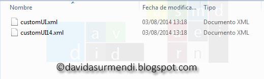 Archivos XML de personalización de la Cinta de Opciones para Excel 2007 y 2010/2013