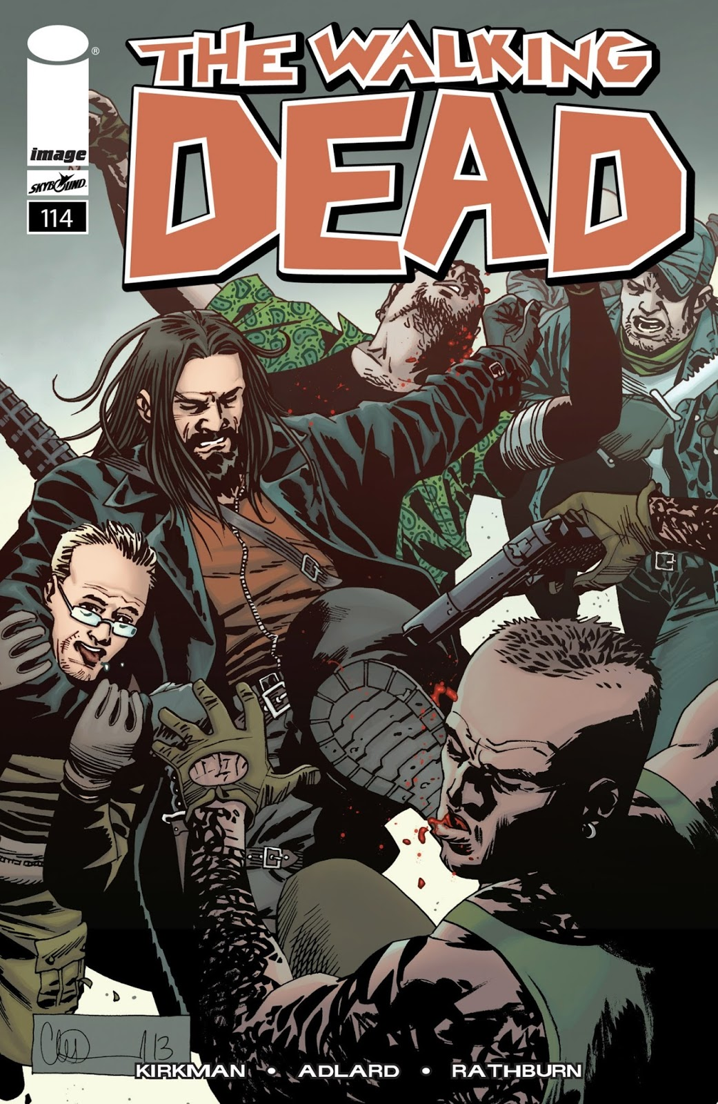 cómic 114 the walking dead