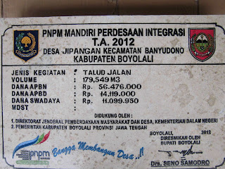 Prasasti Marmer PNPM Banyudono-Boyolali