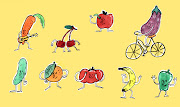 """El tercer mensaje dice: """"es bueno comer diariamente frutas y verduras de . fruitandvegstorage"""