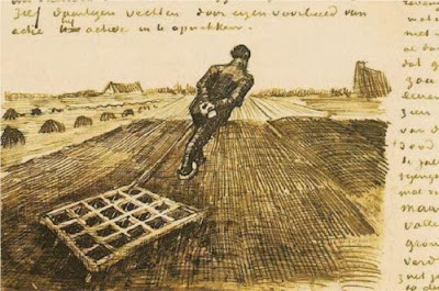 Van Gogh - Man Pulling a Harrow