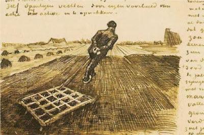 Van Gogh - Man Pulling a Harrow