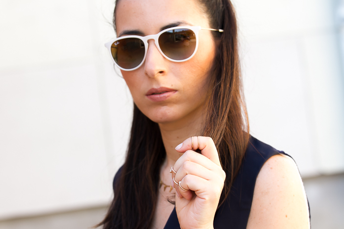 Accessories Ray-Ban Erika Sunglasses and Midi Rings