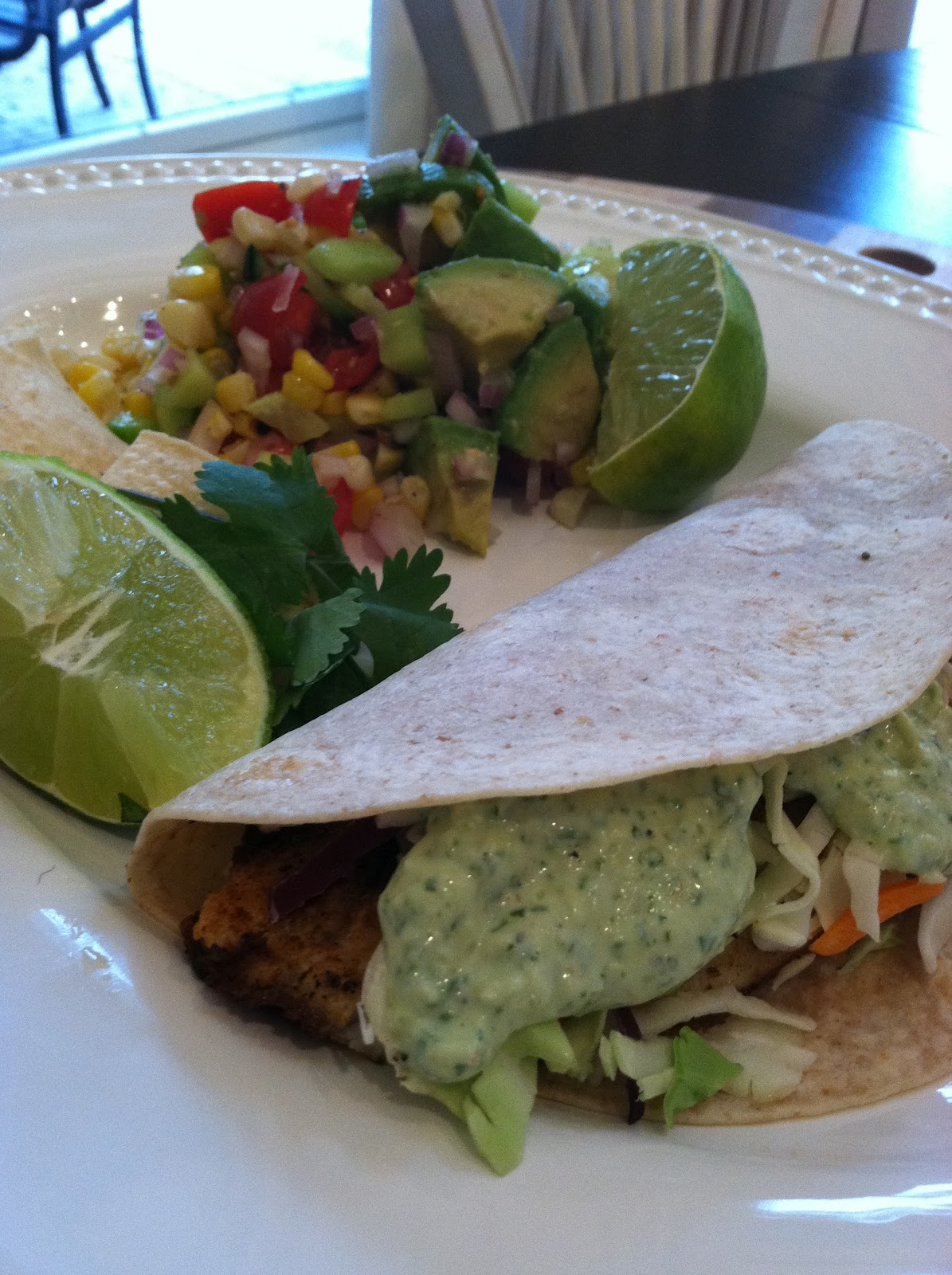 Little Magnolia Kitchen: Grilled Fish Tacos with Cilantro-Lime Sauce
