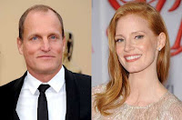Woody Harrelson e Jessica Chastain são eleitos os vegetarianos mais sexy