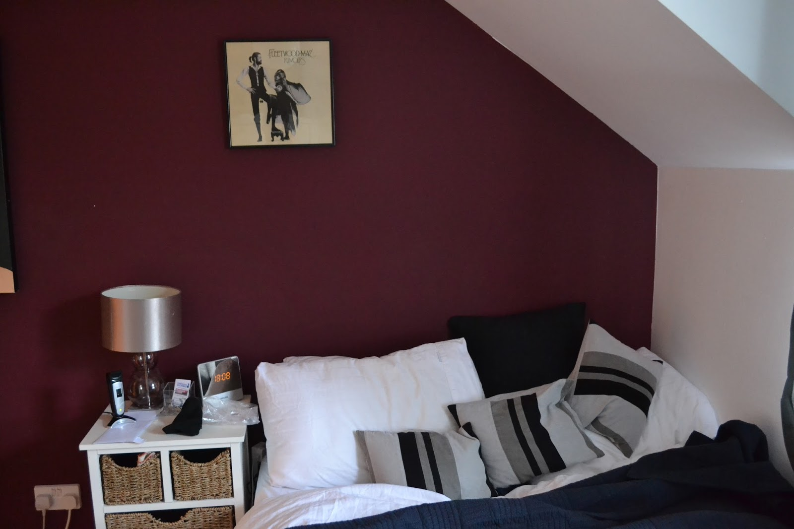 Tales of timler house of trouser - Maroon color walls ...