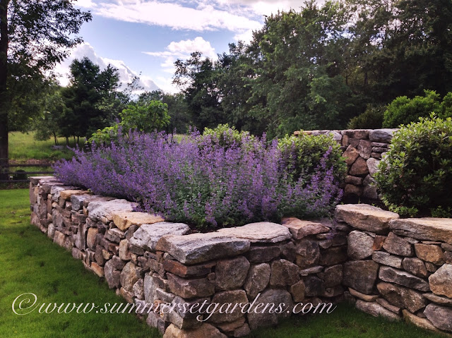 Garden Design A Rustic Country Stone Retaining Wall and