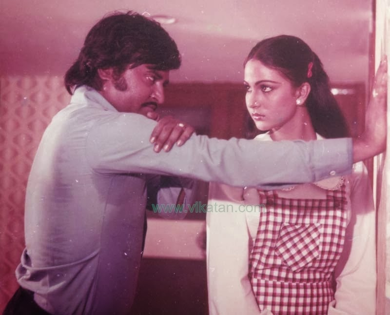 Rajinikanth & Rathi in 'Kazhugu' (1981) Tamil Movie