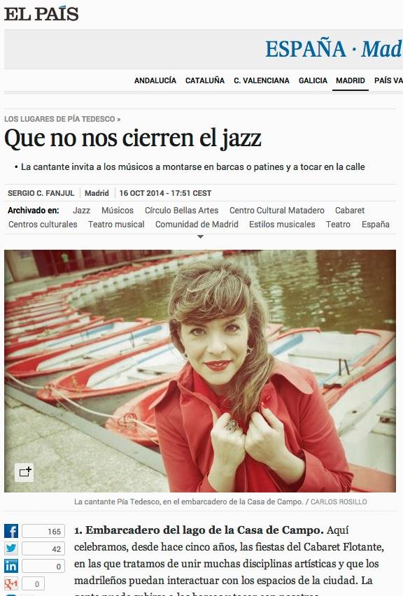 pia tedesco jazz cabaret madrid cultura sergio fanjul