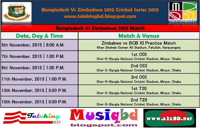 Bangladesh Vs Zimbabwe Series 2015 Fixture,Tickets, Results & Live Match