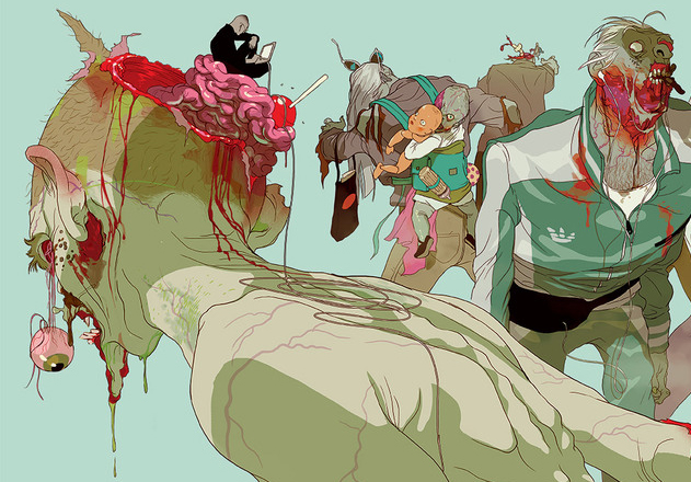 Tomer Hanuka's Zombies - Zombie of the Week