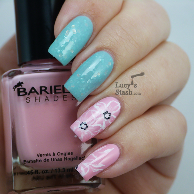 Lucy's Stash - floral nail art