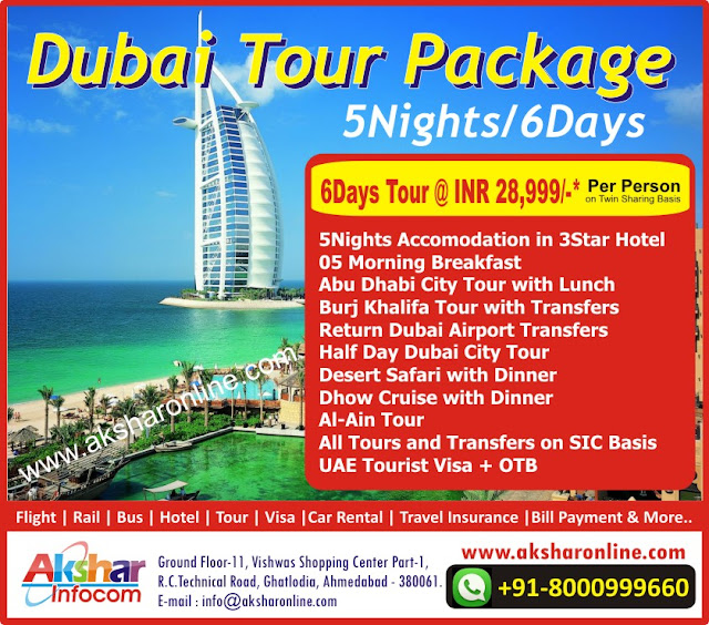 Dubai Tour Package 5Nights/6Days, Dubai Tour Package, Dubai Full Tours, 5Nights Accomodation in 3Star Hotel 05 Morning Breakfast Abu Dhabi City Tour with Lunch Burj Khalifa Tour with Transfers Return Dubai Airport Transfers Half Day Dubai City Tour Desert Safari with Dinner Dhow Cruise with Dinner Al-Ain Tour All Tours and Transfers on SIC Basis UAE Tourist Visa + OTB5Nights Accomodation in 3Star Hotel 05 Morning Breakfast Abu Dhabi City Tour with Lunch Burj Khalifa Tour with Transfers Return Dubai Airport Transfers Half Day Dubai City Tour Desert Safari with Dinner Dhow Cruise with Dinner Al-Ain Tour All Tours and Transfers on SIC Basis UAE Tourist Visa + OTB, Dubai Visa, Dubai Tour Agent, Dubai Supplier, Dubai Trasfers, Dubai Packages, Dubai Flight Ticket, Cheap Ticket Agent Ahmedabad Dubai Ticket agent, Ahmedabad Travel Agent, Dubai Packages