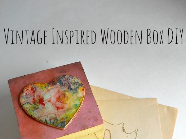 Vintage-Inspired DIY Wood Storage Box