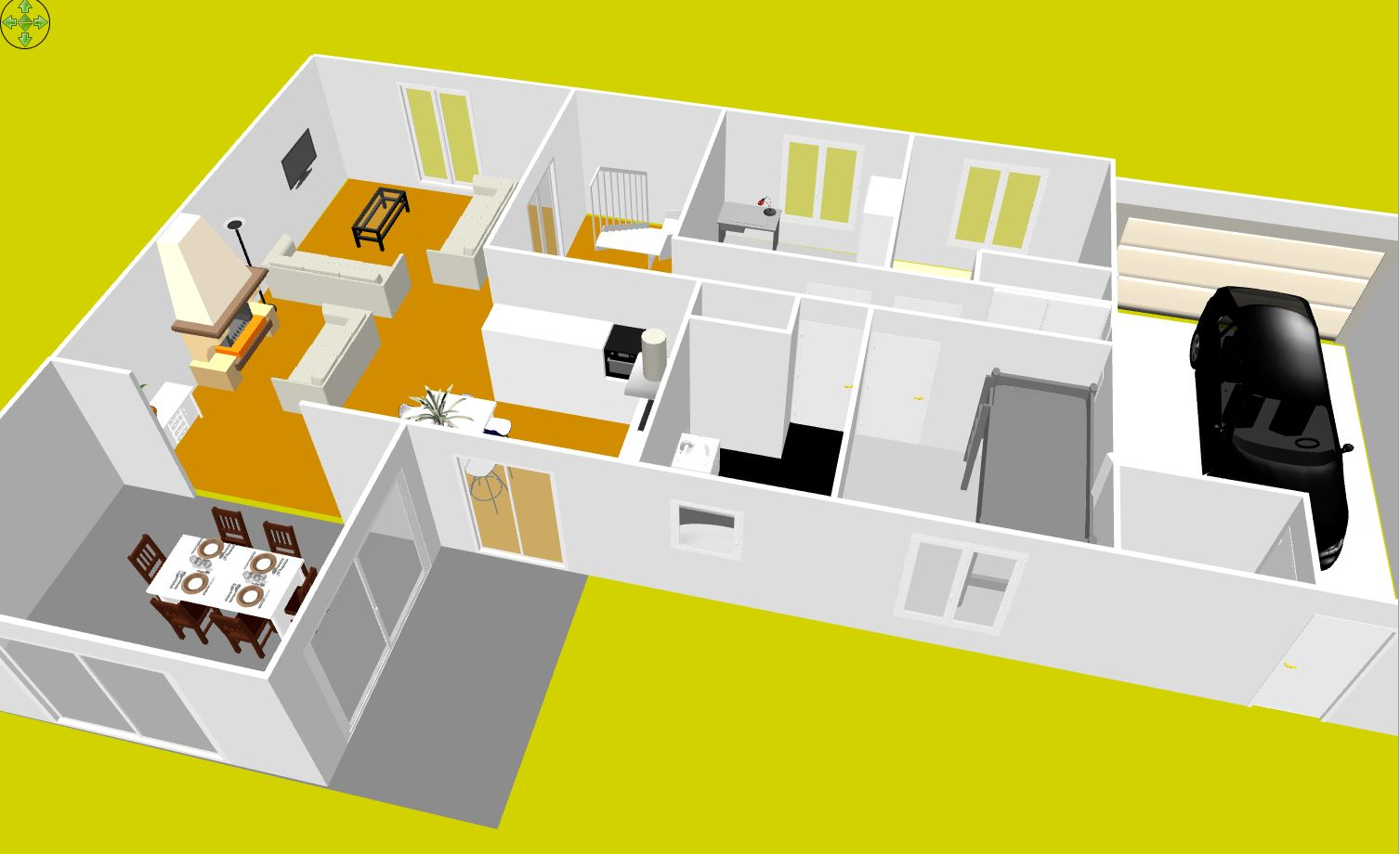 Plan am nagement maison gratuit for Plan maison 80m2 3 chambres