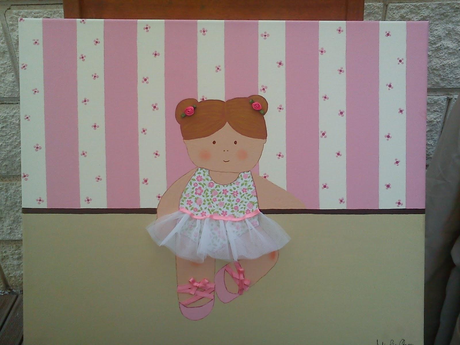 Manualidades cuadros infantiles con telas - Telas con motivos infantiles ...