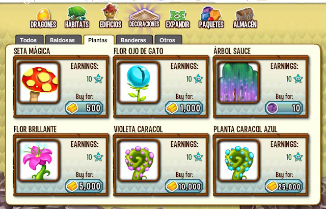 todas las plantas de dragon city