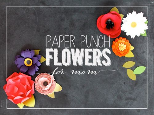 paper punch flower DIY