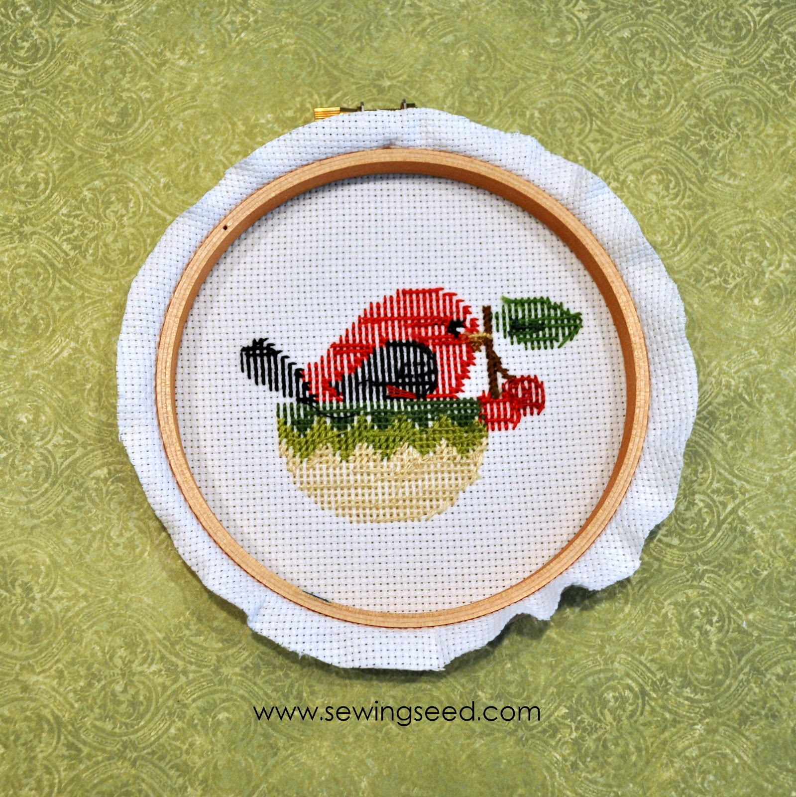 Sewingseed: Framing your needlework in a hoop