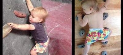 Απίστευτο μωρό σκαρφαλώνει τοίχους πριν καν περπατήσει (VIDEO)
