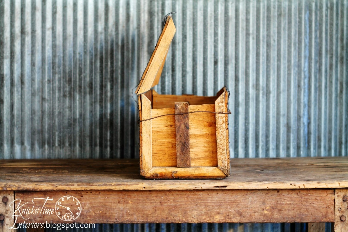 Antique Wooden Shipping Crate