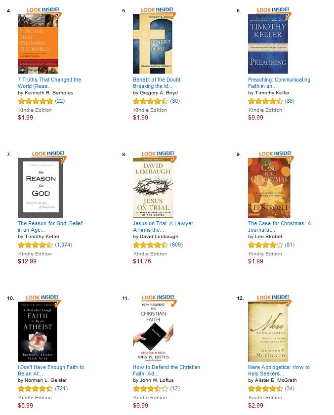 Debunking christianity december 2015 looks like the kindle edition of my book how to defend the christian faith made it to the front page of christian apologetics bestselling books by authors fandeluxe Choice Image