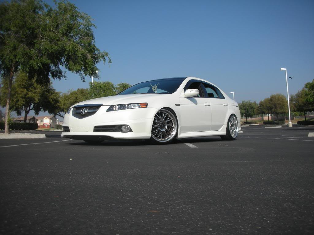 New Autos Tuning White Acura Tl With Black Rims - Acura tl black rims