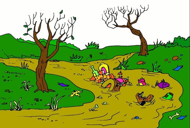 Resultado de imagen para imagen de rios contaminado animado