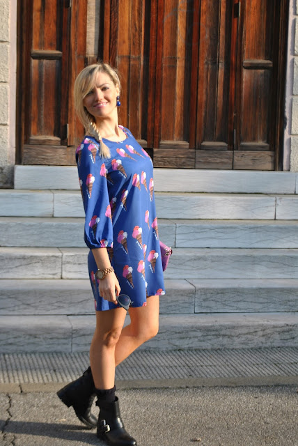 abito stampato come abbinare un abito stampato abito stampa gelati outfit casual how to wear printed dress how to combine printed dress printed dress street style casual outfit ice cream printed dress ice cream print new chic dress abito new chic outfit autunnali outfit dicembre 2015 fall outfit december outfits mariafelicia magno fashion blogger colorblock by felym fashion blog italiani fashion blogger italiane blog di moda blogger italiane di moda fashion blogger bergamo fashion blogger milano fashion bloggers italy italian fashion blogger influencer italiane italian influencer