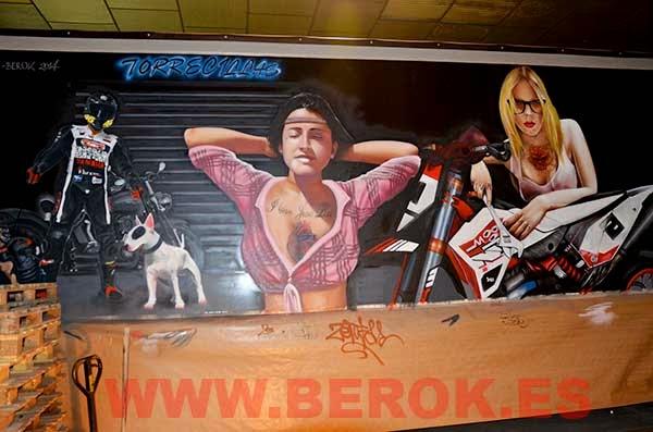 graffiti camión tías buenas
