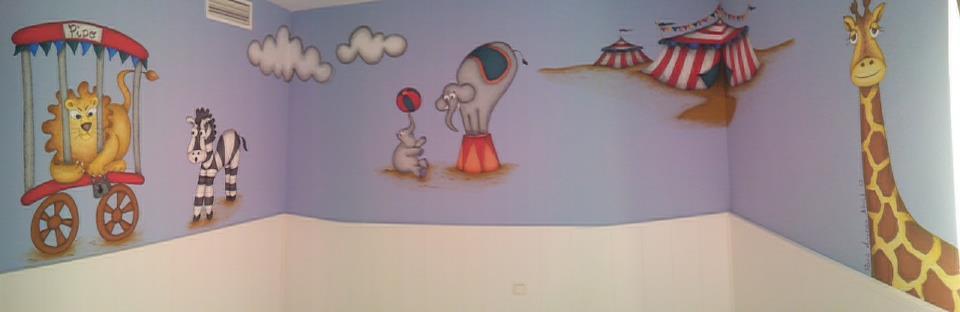 Murales infantiles pintados a mano 12 cuarto para - Murales infantiles pintados a mano ...