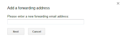 Custom email setting to forward all emails