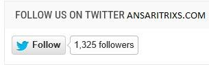Add Twitter Follow Button on Blogger