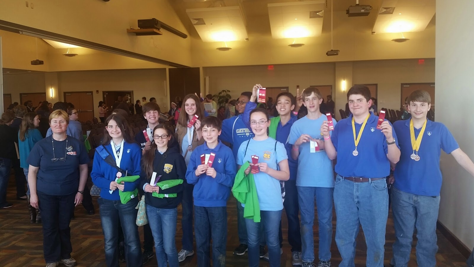 Montgomery Catholic's Middle School Competes at Regional Science Olympiad Competition in Auburn 1