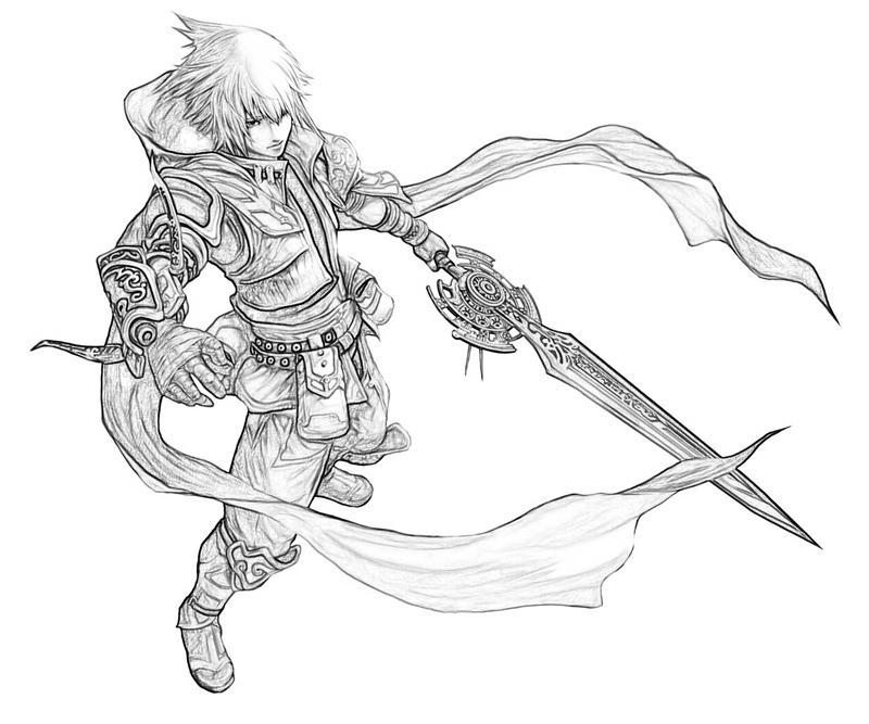 pandora's-tower-aeron-character-coloring-pages