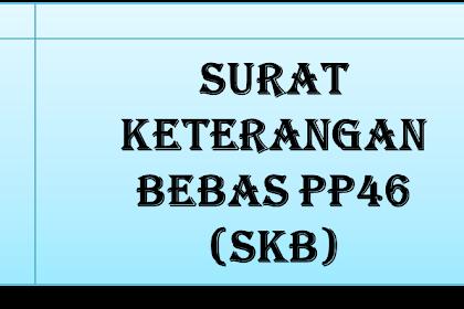Surat Keterangan Bebas PP46 (PER - 32/PJ/2013)
